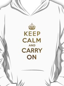 Keep Calm and Carry One Grunge Dark Blue Background T-Shirt