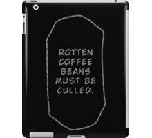 Rotten Coffee Beans - White  iPad Case/Skin