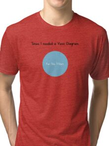 Times I Needed a Venn Diagram Tri-blend T-Shirt