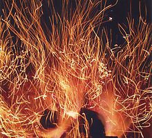 Charcoal fire by migueldelmonte