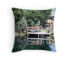 Reflections of Life Nature and Structures Throw Pillow