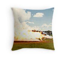 Jack Daniels Jet Bike Throw Pillow