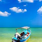 Unknown Horizons - Little Boat in the Gulf of Mexico by Mark Tisdale