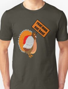 Protesting Turkey With Sign Real Men Eat Beef  T-Shirt