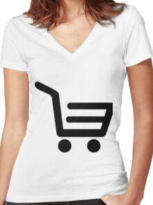 E Commerce Women's Fitted V-Neck T-Shirt