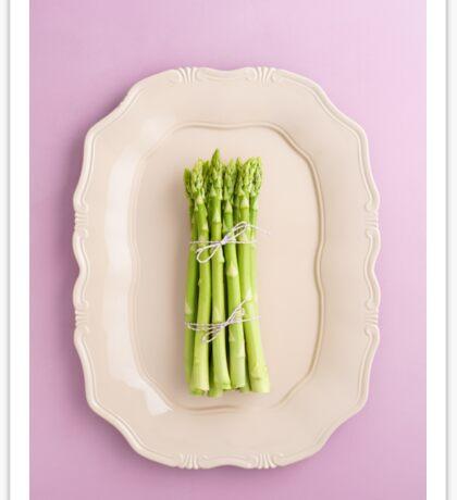 Fresh green asparagus Sticker