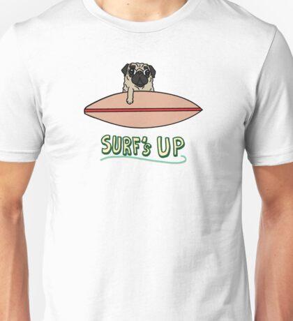 Surf's Up Pug Unisex T-Shirt