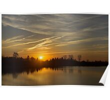 Cool Contrails and Sunshine Poster