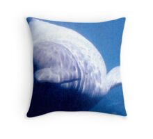 Beluga in watercolor Throw Pillow