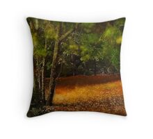 Path through the forest Throw Pillow