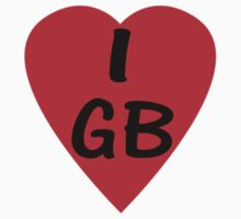 I Love Great Britain - Country Code GB T-Shirt & Sticker by deanworld