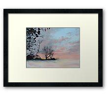 Wintery Sunrise Framed Print