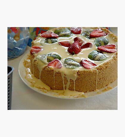 Exploding Cheesecake Photographic Print