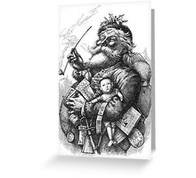 Vintage Illustration Of Santa Claus Greeting Card