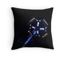 lights at the carnival Throw Pillow