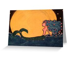 Accessorizing the moon Greeting Card