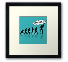 Get to the choppa! Framed Print