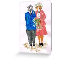 The Guinea Pig Wedding Greeting Card