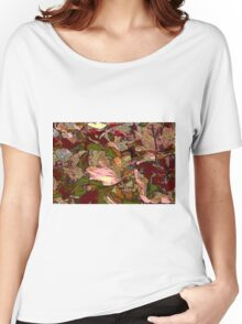leaf background Women's Relaxed Fit T-Shirt