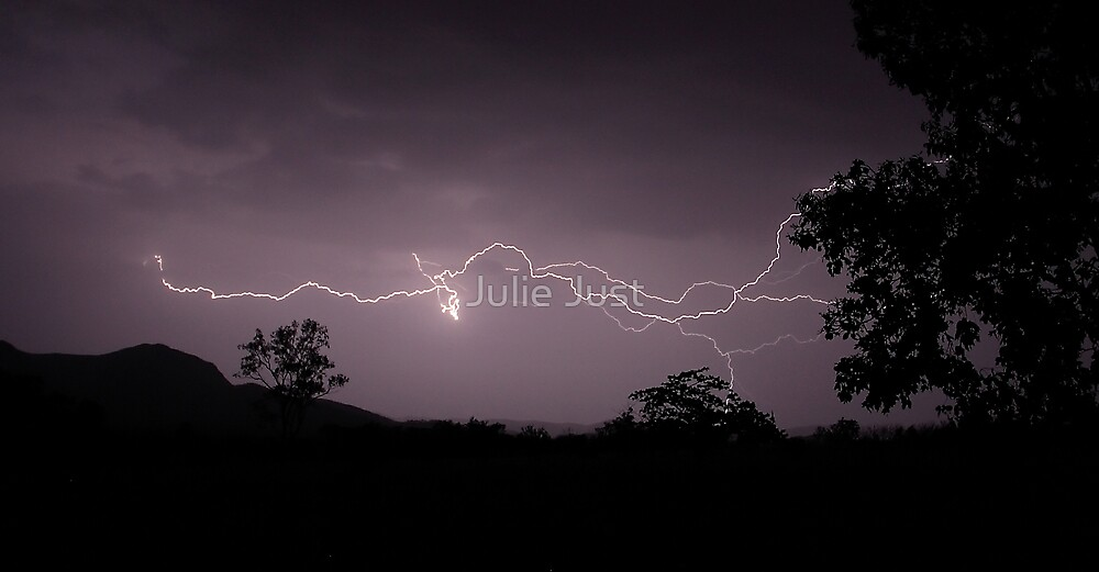 Lightning crawl by Julie Just