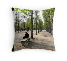 Winter and Spring Throw Pillow