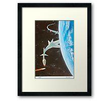 Asteroid gobbler Framed Print