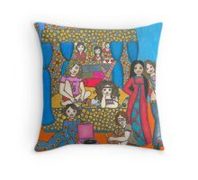 Sleepover at Marcie's... Throw Pillow
