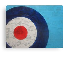 mod scooter target Canvas Print