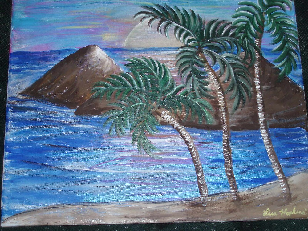 HAND PAINTED HAWAII PICTURE by lisaart82579