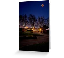 Lunar Eclipse; Mount Barker, South Australia Greeting Card