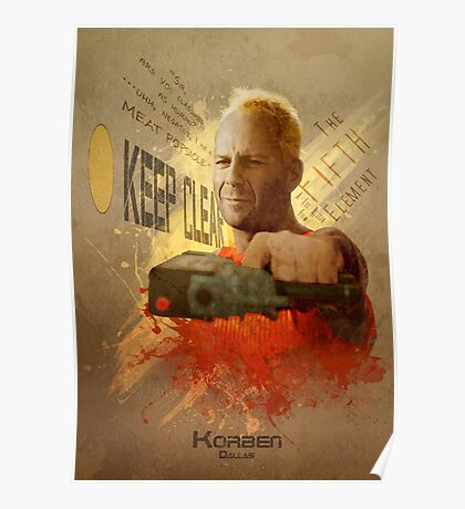 5th Element - Korben Dallas Poster