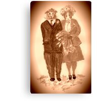 The Guinea Pig Wedding (Sepia) Canvas Print