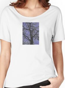 Tree Branches Against Purple Sky Design Women's Relaxed Fit T-Shirt