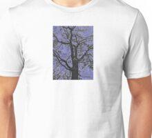 Tree Branches Against Purple Sky Design Unisex T-Shirt
