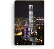 Night on the City IV - Hong Kong. Canvas Print