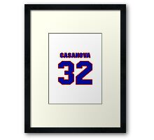 National baseball player Paul Casanova jersey 32 Framed Print