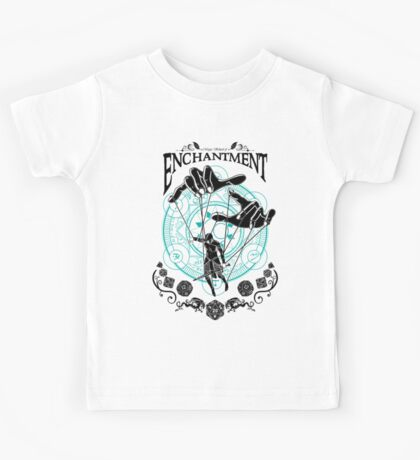 Enchantment - D&D Magic School Series : Black Kids Tee
