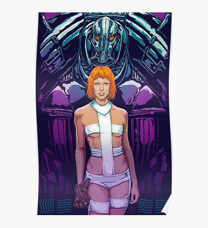 5th Element - Leeloo, Aliens Poster