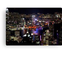 Night on the City V - Hong Kong. Canvas Print