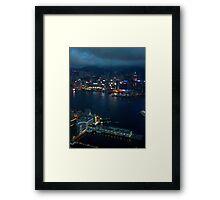 Night on the City VI - Hong Kong. Framed Print