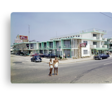 Rio Motel in Wildwood New Jersey from the early 1960's Canvas Print