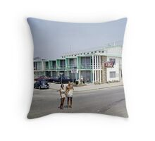 Rio Motel in Wildwood New Jersey from the early 1960's Throw Pillow