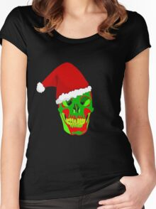 The Death Of Christmas - Santa's Skull Women's Fitted Scoop T-Shirt