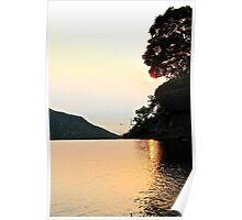 Falling Sun on Natural Pool II - Hong Kong. Poster