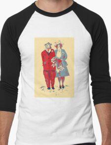 The Guinea Pig Wedding (Art Style) Men's Baseball ¾ T-Shirt