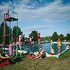 Grandview Hotel in Moodus Connecticut 1960's Outdoor Pool  by aladdincolor