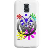 VW Peace hand sign with flowers Samsung Galaxy Case/Skin