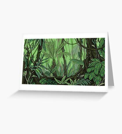 Dense Jungle Greeting Card