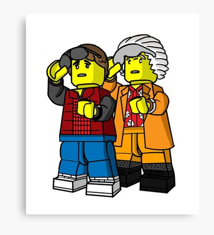 Back To The Future Lego Canvas Print