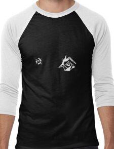 Two patterns on chest 02 Men's Baseball ¾ T-Shirt